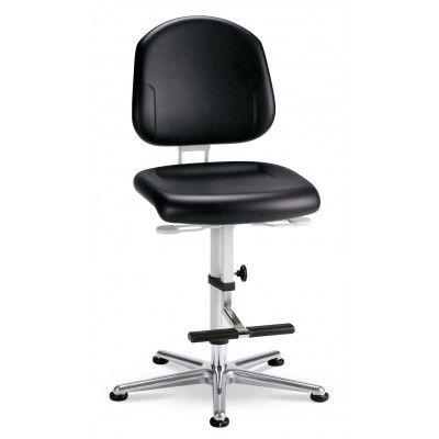 krzesło do pomieszczeń czystych sterylnych Cleanroom Plus 3/bimos/podnóżek/stopki
