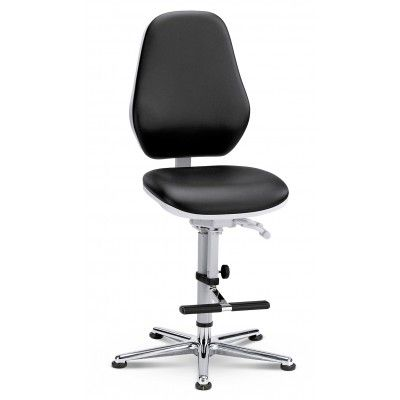 krzesło do pomieszczeń czystych sterylnych Cleanroom Basic 3/bimos/podnóżek/wysokie oparcie