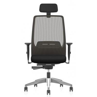 krzesło biurowe obrotowe AIMis1 Interstuhl kółka siatka zagłówek