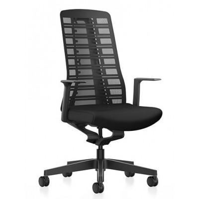 krzesło biurowe obrotowe kółka połokietniki siatka PUREis3