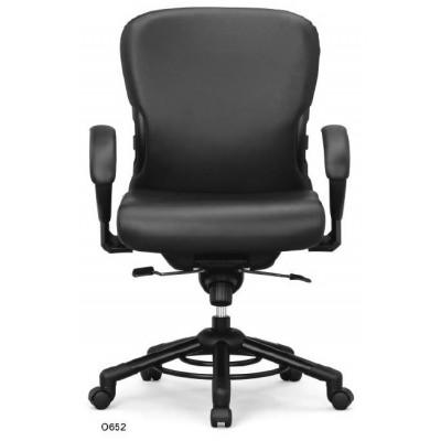 krzesło biurowe obrotowe do 200kg XXXL kółka podłokietniki Interstuhl