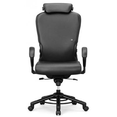 krzesło biurowe obrotowe do 200kg XXXL kółka podłokietniki zagłówek Interstuhl