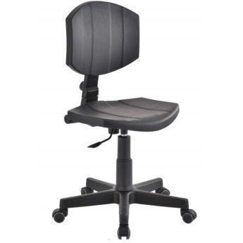 krzesło przemysłowe warsztatowe niskie pianka PU kółka