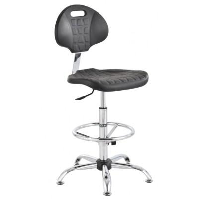 ESD krzesło pianka PU wysokie podnóżek regulowany