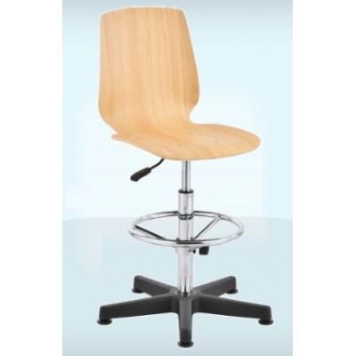 krzesło przemysłowe warsztatowe sklejka wysokie podnóżek