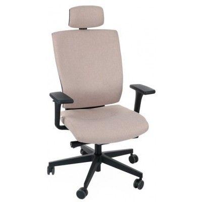 krzesło biurowe obrotowe MAXPRO tapicerowane podłokietniki